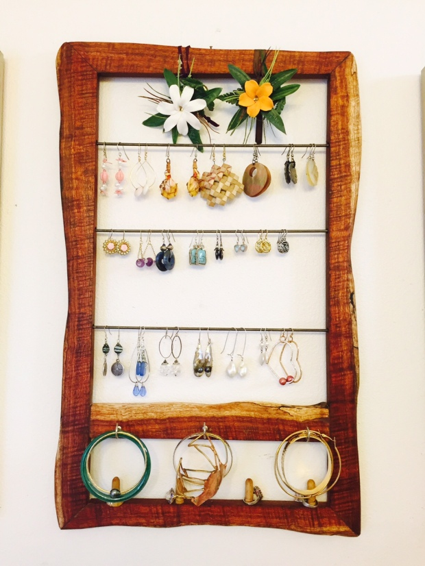 Curly Koa Jewelry rack