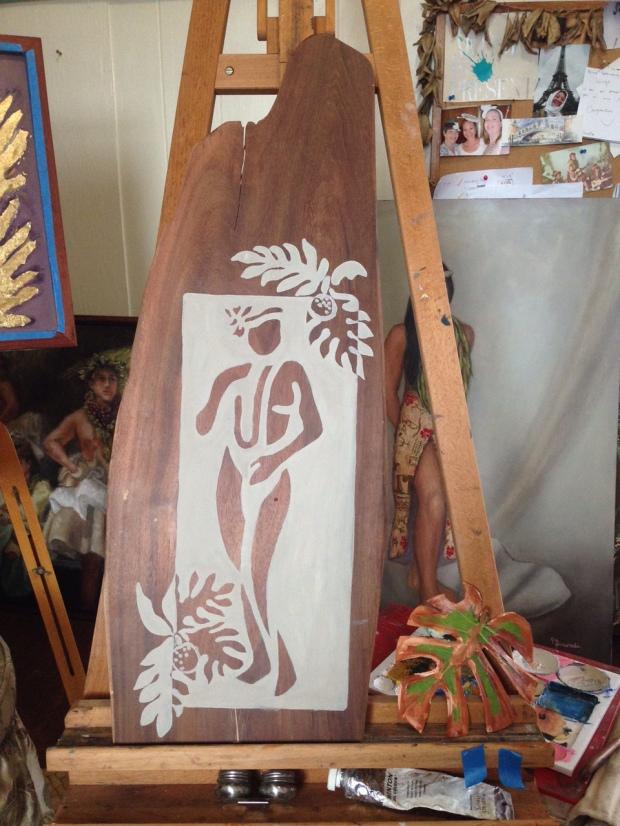 Painting on Koa